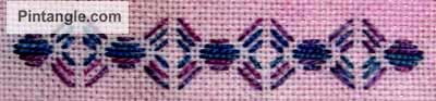 running stitch pattern darning sample 4