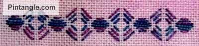 running stitch pattern darning sample 4