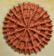 sample of whipped woven wheel