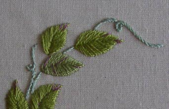 Satin stitch sampler