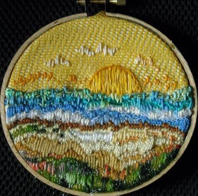 satin stitch sample