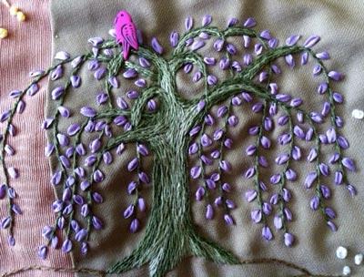 stem stitch sample
