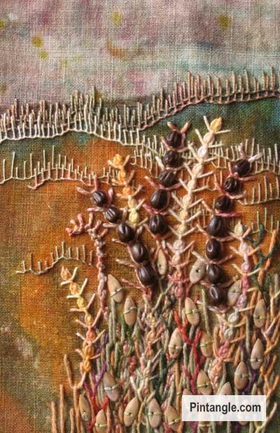 Wheatear stitch sample 6
