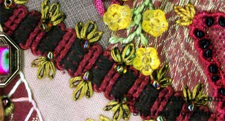 crazy quilt detail of braid
