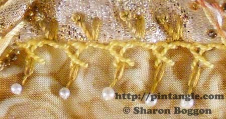 crossed buttonhole stitch sample
