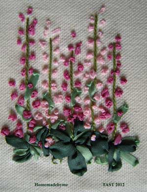 sample of hand embroidered french knots