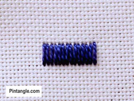 step by step how to work satin stitch 3