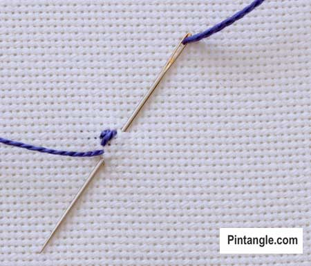 step by step how to work diagonal satin stitch1