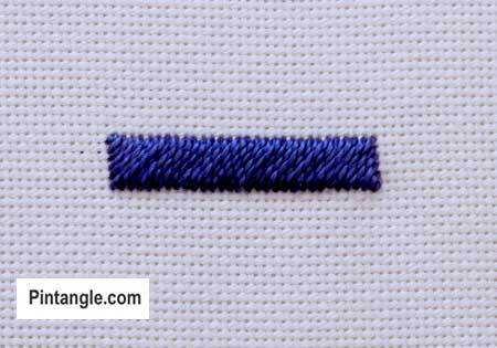 step by step how to work diagonal satin stitch 3
