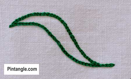 step by step how to work outline satin stitch 2