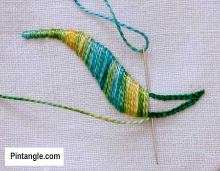 How To Embroider Outlined Or Raised Satin Stitch  Pintangle