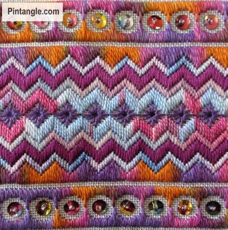 Satin Stitch sample 10
