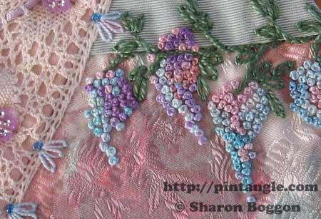 stem stitch hand embroidery sample