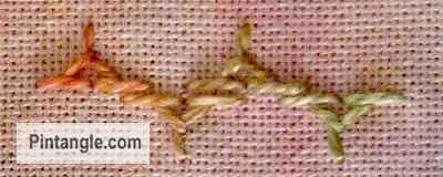 Half Chevron stitch sample 5