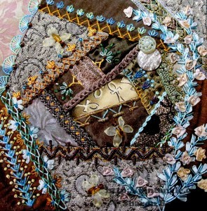 May crazy quilt journal project block