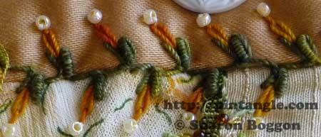 How to work Bullion Knot Stitch