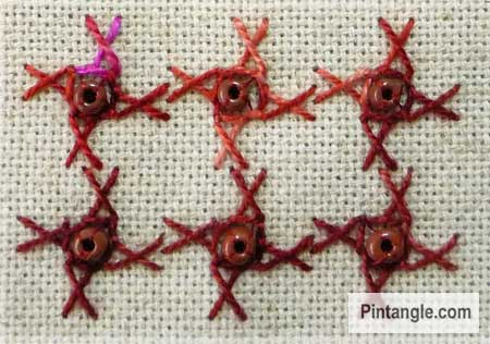 Crossed buttonhole stitch sample 3