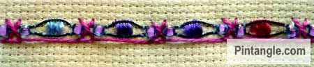 Crossed buttonhole stitch sample 4