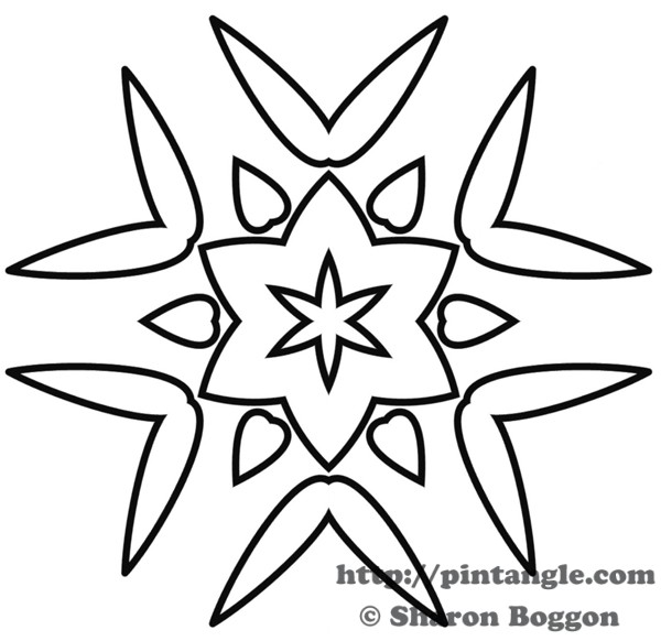 Embroidery Pattern Design 9 Pintangle