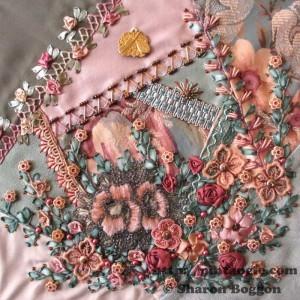 Crazy Quilt journal project April 2012 crazy quilt block