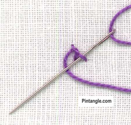 Palestrina stitch Version 2 tutorial step 3