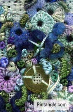 Buttonhole wheel pulled stitch sample