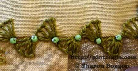 buttonhole wheel stitch example