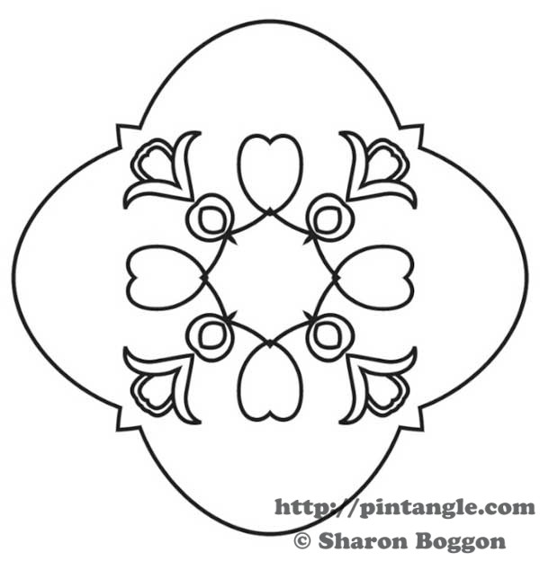 Friday Freebie Hand Embroidery Pattern Pintangle