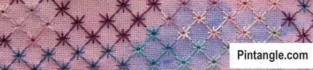 Algerian Eye stitch sample of patterns 1
