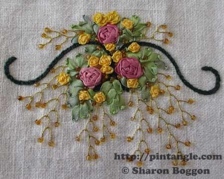 Silk ribbon embroidery stitches