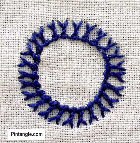 Bonnet stitch sample 1