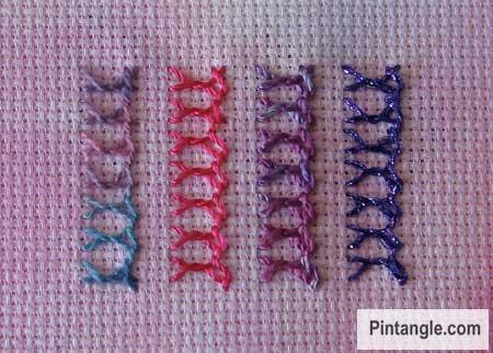 Bonnet stitch sample 3