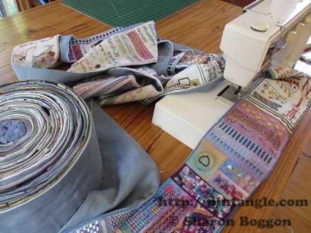 sampler on sewing machine