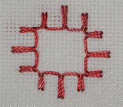 Up and Down Buttonhole Stitch