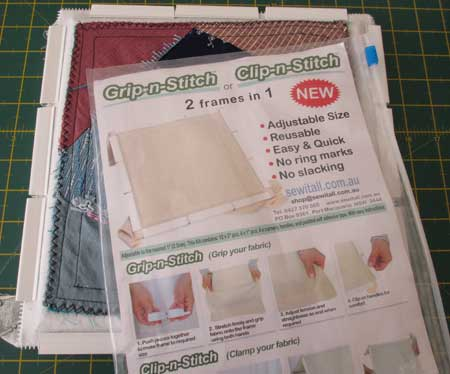 Grip-n-Stitch embroidery frame review package