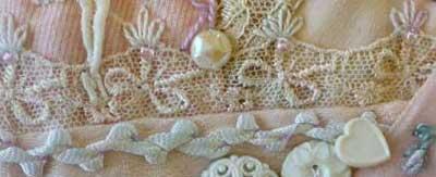 Crazy quilt Seam Detail 408