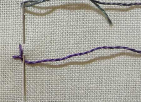 knotted buttonhole stitch step 2