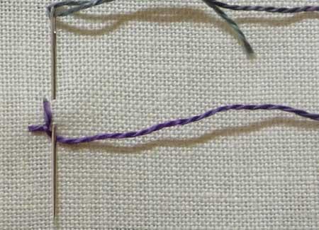 knotted buttonhole stitch step 2