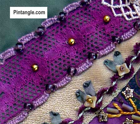 Beaded Hedebo Edge Stitch Tutorial