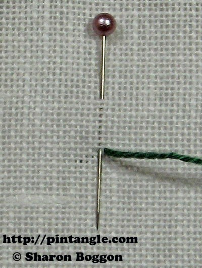 Closed base needlewoven picot stitch 1