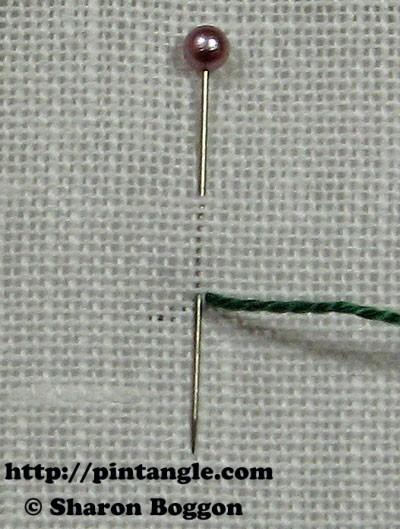 Closed base needlewoven picot stitch 1