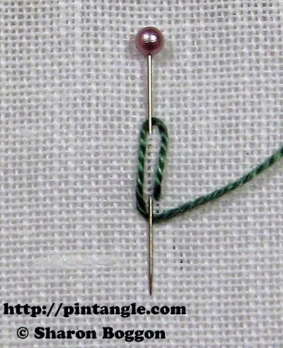 Closed base needlewoven picot stitch 2