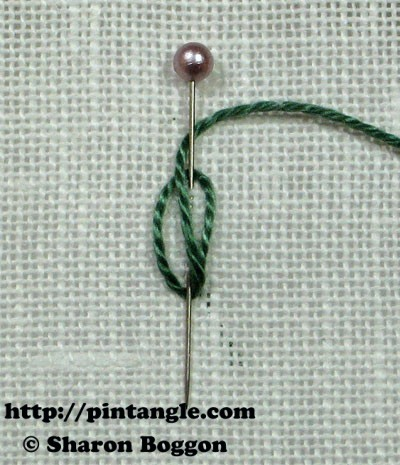 Closed base needlewoven picot stitch 3