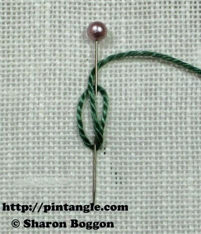 Closed base needlewoven picot stitch 3