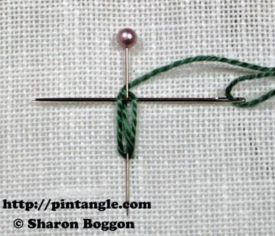 Closed base needlewoven picot stitch 4
