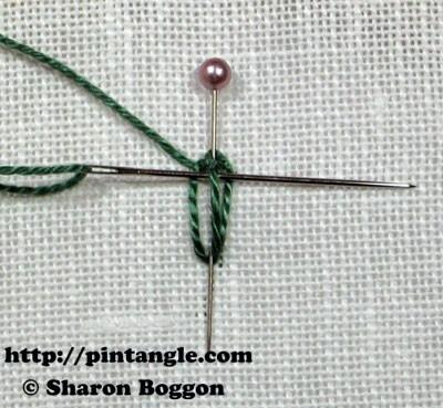 Closed base needlewoven picot stitch 5