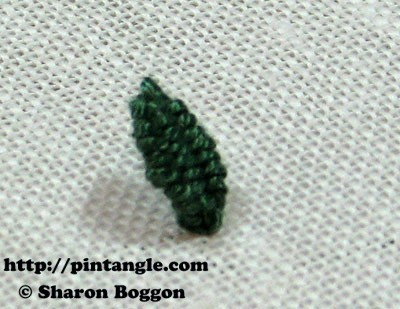 needlewoven picot leaf step by step directions
