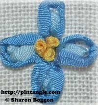 silk ribbon hand embroidery berry stitch flower
