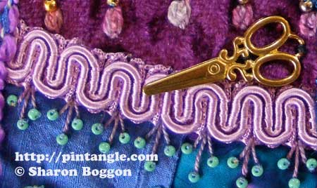 Crazy Quilt Seam Detail 421