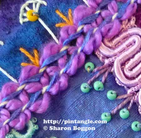 Crazy Quilt Seam Detail 422